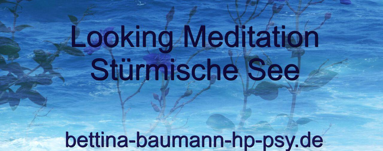 Looking Meditation Stürmische See